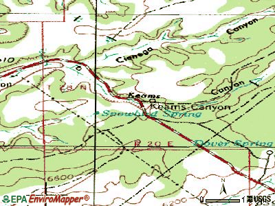 Keams Canyon topographic map