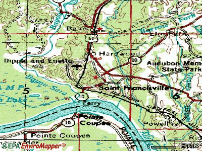St. Francisville topographic map
