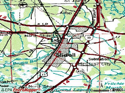 Slidell topographic map