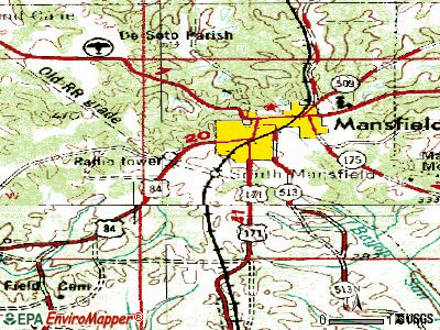 South Mansfield topographic map