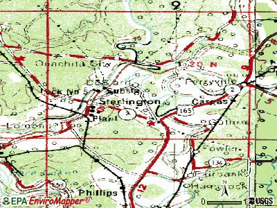 Sterlington topographic map