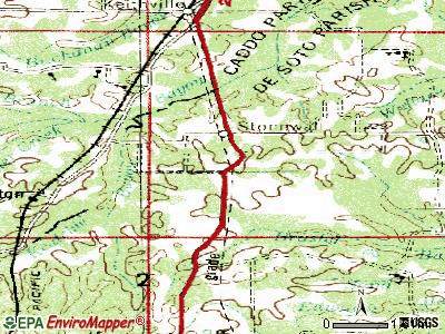 Stonewall topographic map