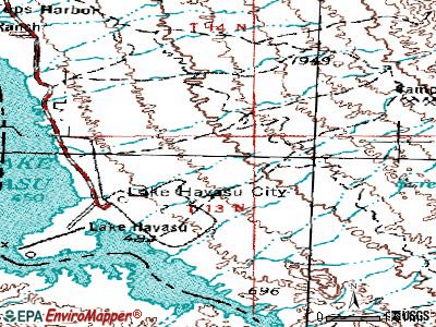 Lake Havasu City topographic map
