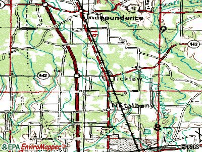 Tickfaw topographic map