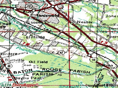 Timberlane topographic map