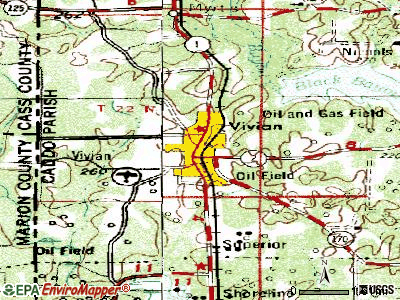Vivian topographic map