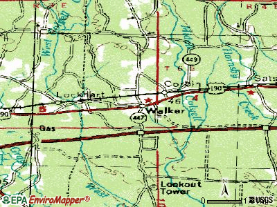 Walker topographic map