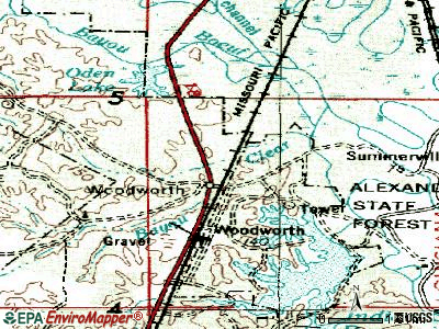 Woodworth topographic map