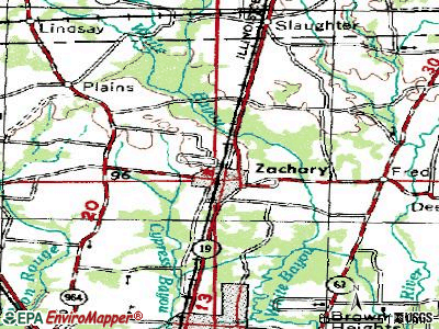 Zachary topographic map