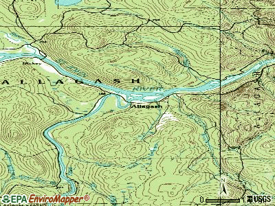 Allagash topographic map
