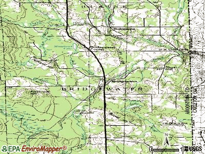 Bridgewater topographic map