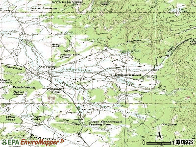 Lukachukai topographic map