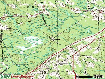 Crystal topographic map