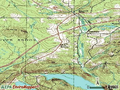 Dyer Brook topographic map