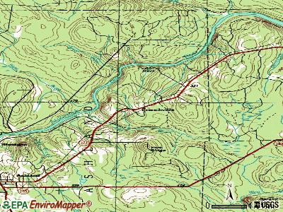 Frenchville topographic map