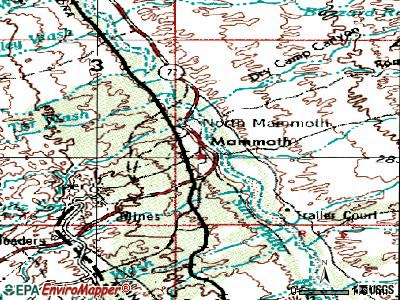 Mammoth topographic map