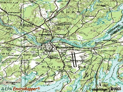 Brunswick topographic map