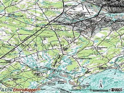 Scarborough topographic map