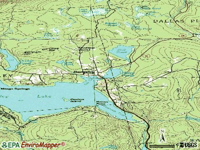 Rangeley topographic map