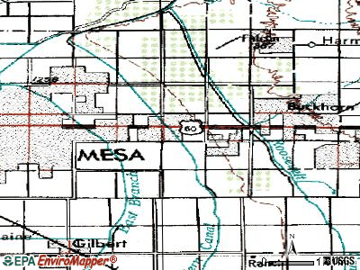Mesa topographic map