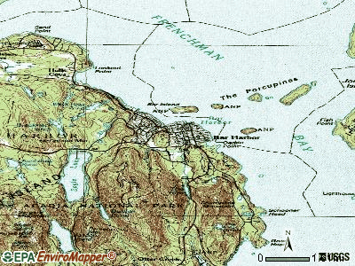 Bar Harbor topographic map