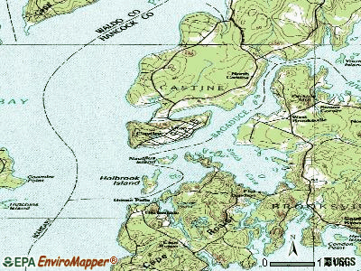 Castine topographic map