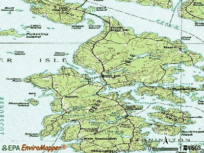 Deer Isle topographic map