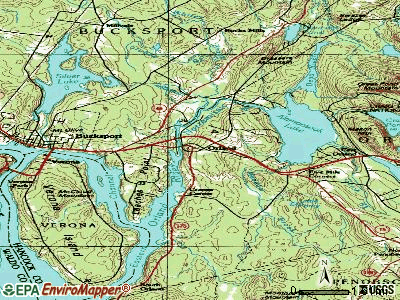 Orland topographic map