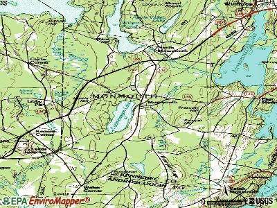 Monmouth topographic map