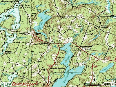 Readfield topographic map