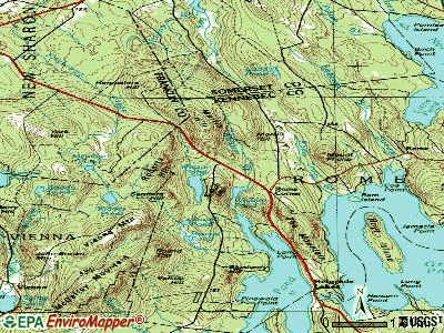 Rome topographic map