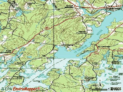 Cushing topographic map