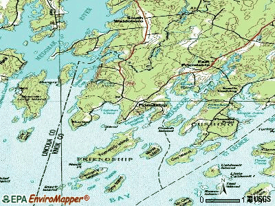 Friendship topographic map