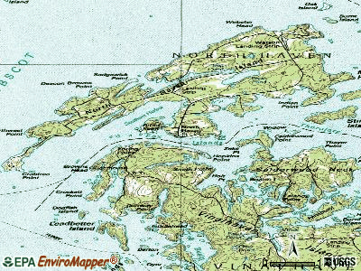 North Haven topographic map