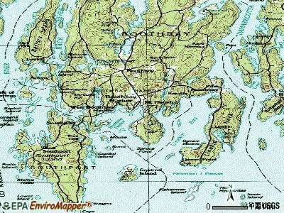 Boothbay Harbor topographic map