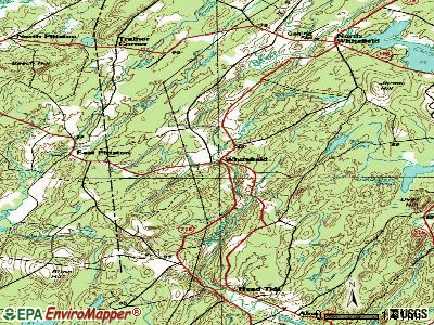Whitefield topographic map