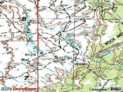 Nazlini topographic map