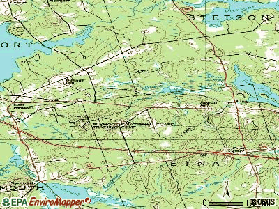Etna topographic map