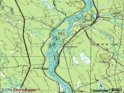 Greenbush topographic map