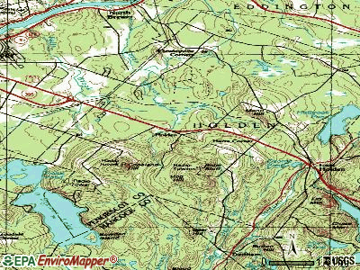 Holden topographic map