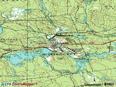 Millinocket topographic map