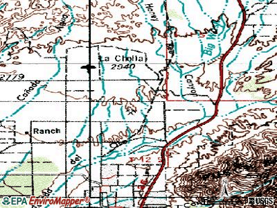 Oro Valley topographic map