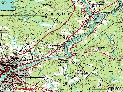 Veazie topographic map