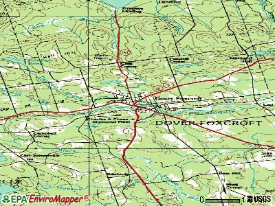 Dover-Foxcroft topographic map