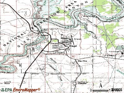 Page topographic map