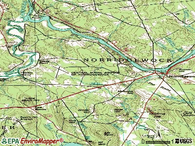 Norridgewock topographic map