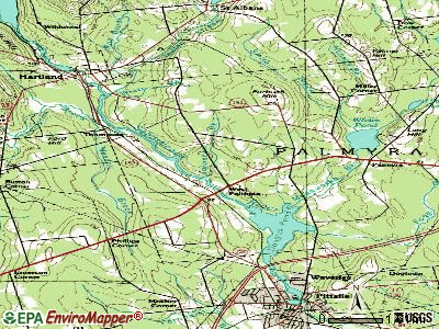 Palmyra topographic map