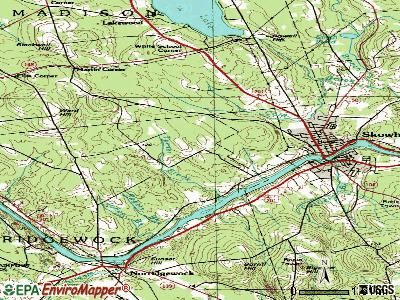Skowhegan topographic map