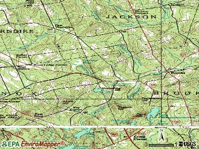 Brooks topographic map