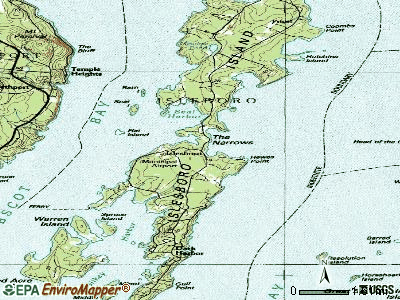 Islesboro topographic map
